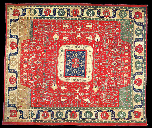 Arts And Crafts Rugs With Exciting Indian Agra Rug Design: Metropolitancarpet.com: Oriental
